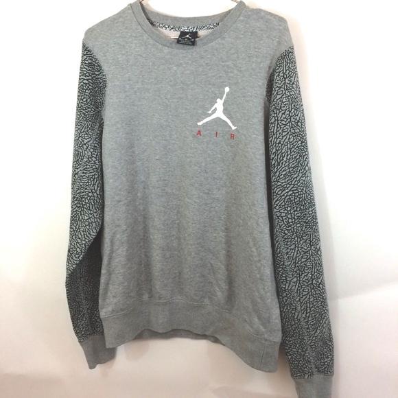 b6eb5ea02ad0 Jordan Other - AIR JORDAN Python Logo Gray Crewneck Sweatshirt